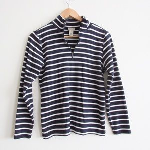 L.L. Bean French Sailor Quarter Zip Pullover